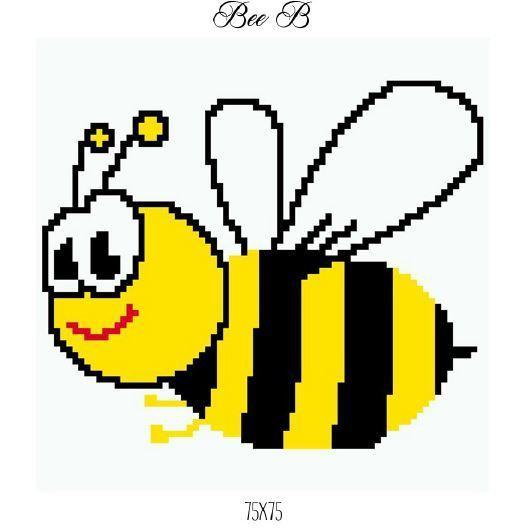 Bee Pillow Crochet Graph Pattern