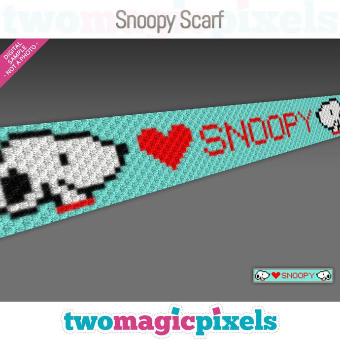 Snoopy Crochet Scarf pattern