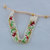 Hand Loomed Medieval Rose Seed Bead Cuff Bracelet