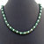 Verdite African Jade Gemstone Crystal Pearl Necklace, Beaded Statement Necklace