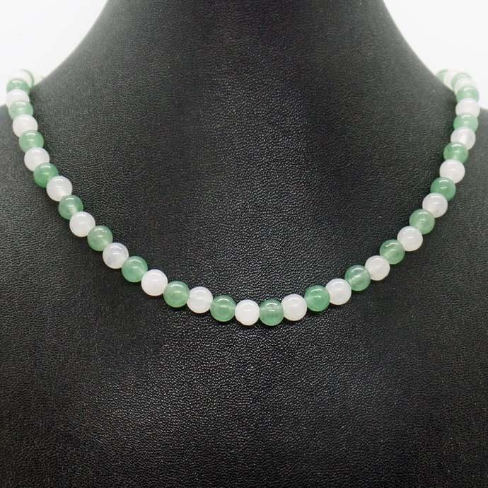 Pink Green Quartz Necklace