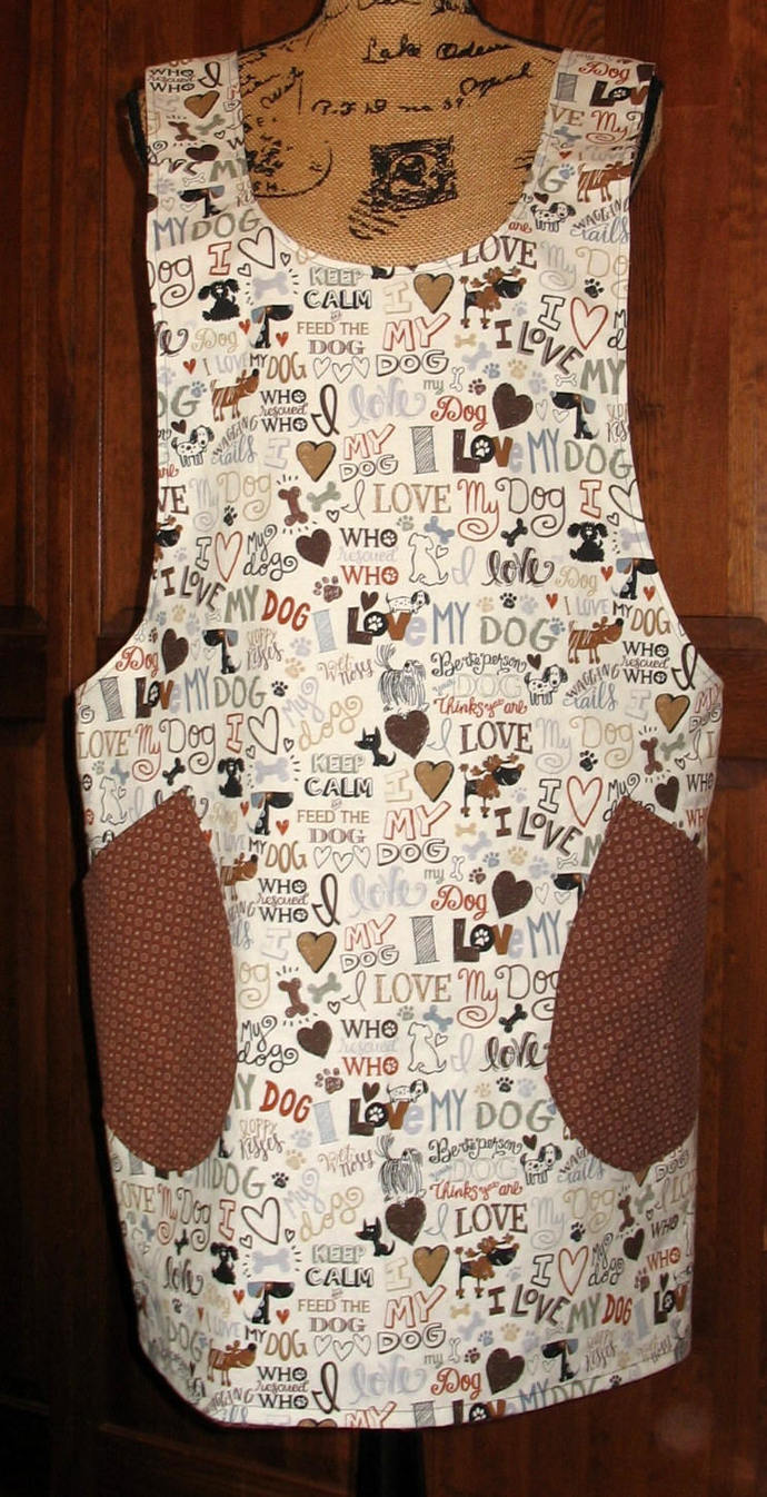 Cross Back apron-Large/XLarge fully lined