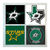 Dallas Stars Coasters - set of 4 tile coasters - NHL, hockey, DAL, Texas, TX,