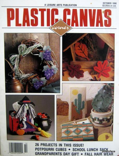 Plastic Canvas Corner October 1990 Vintage Pattern Magazine