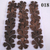 30 Brown Leather Die Cut Flowers