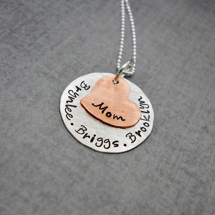Kids names necklace, Personalized jewelry for mom, Personalized sterling silver