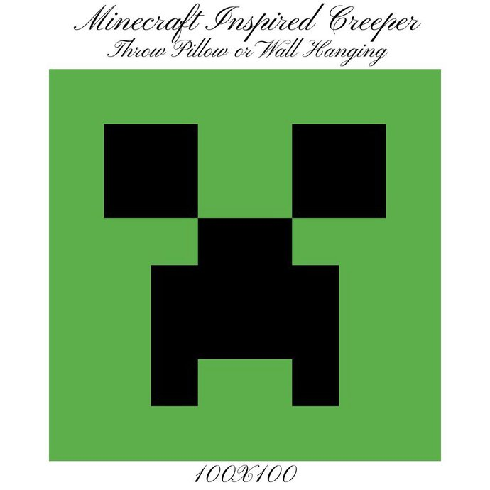 Creeper Pillow Crochet Graph Pattern