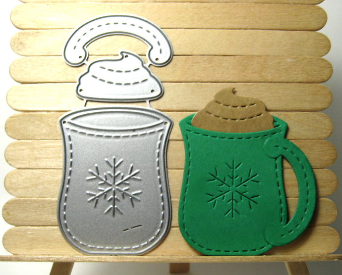 Warm Wishes and Drink Cutting Die Set