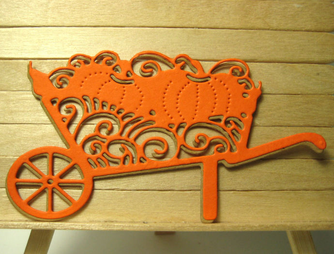 Fancy Wheelbarrow with Pumpkins Cutting Die
