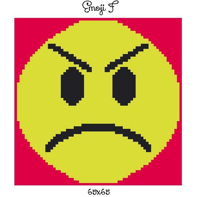 Emoji Pillow Crochet Graph Pattern