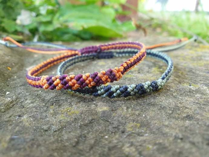 macrame bracelet, minimalist jewelry, best friend birthday gift, woven