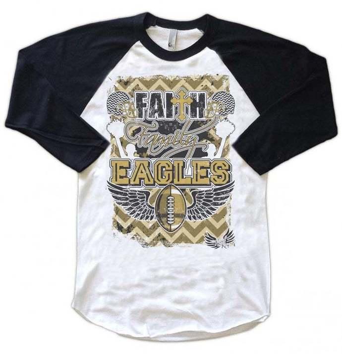 Personalized Football Shirt, Spiritwear Shirt, Faith, Family, School Name,