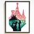 Princess Silhouette modern cross stitch pattern, castle, fairytale, legend,