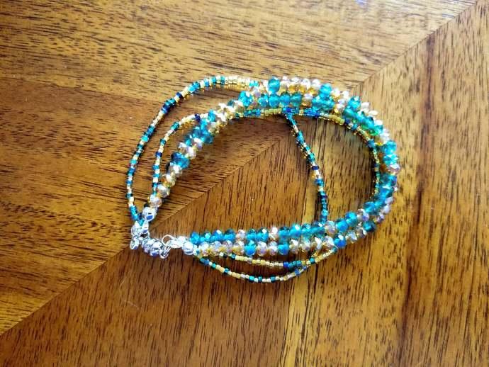 4-Strand, 2-Color Bracelet