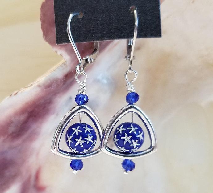 Starry Bead Drop Earrings