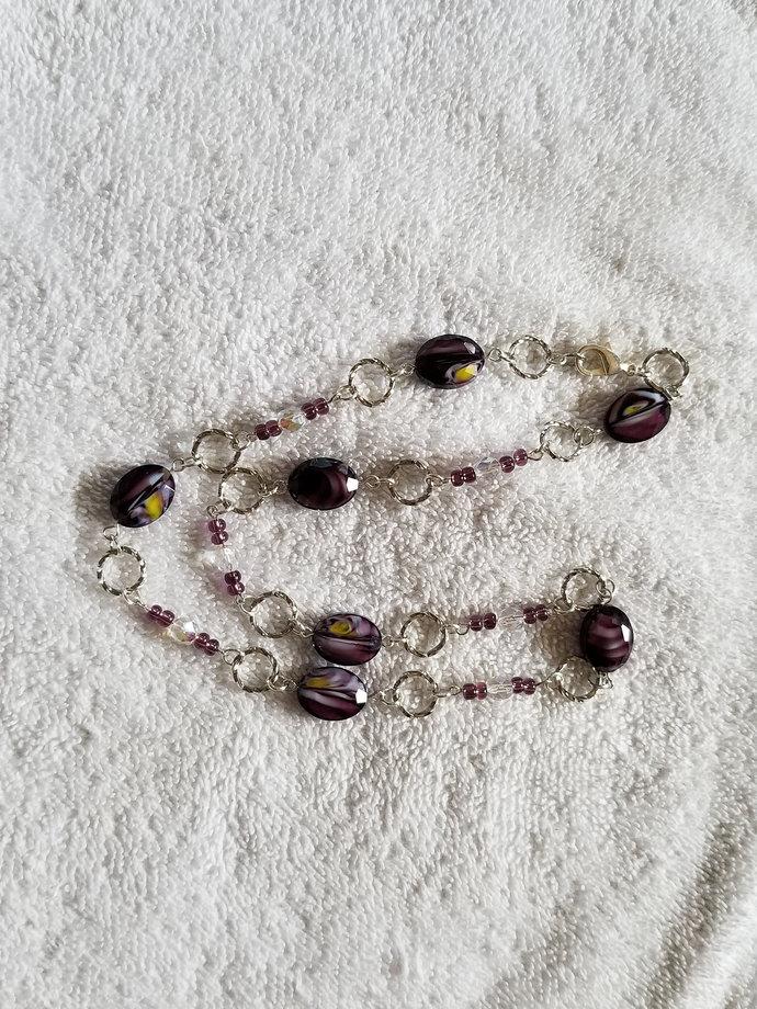 "20"" Purple Link Necklace"