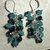 Two-toned Blue Cluster Earrings