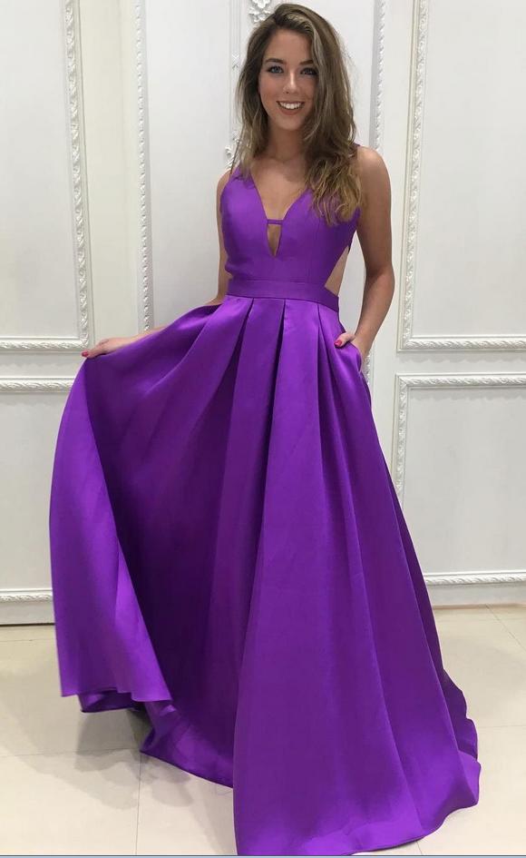 Elegant Prom Dresses,Straps Prom Dresses,A-line Prom Dresses,Backless Prom