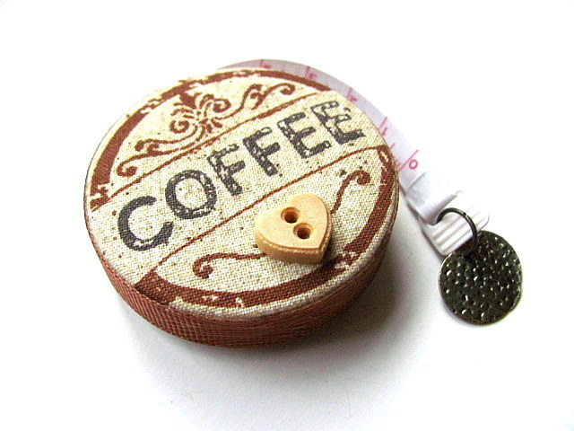 Retractable Measuring Tape Coffee Theme Pocket Tape Measure