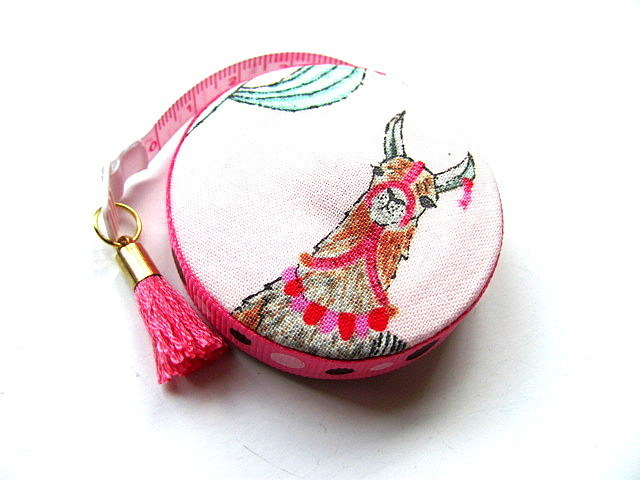 Tape Measure Llamas on Pink Retractable Measuring Tape