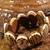 Stretch Shell and Wood Bracelet/ Shell Bead Bracelet/ Elastic Bracelet/ Wood