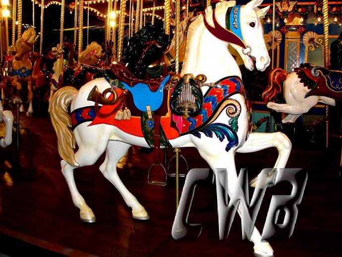 Ol Blue Carousel Pony photographic art print