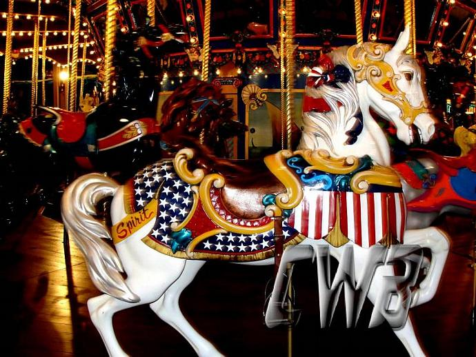 Sugar Carousel Pony photographic art print