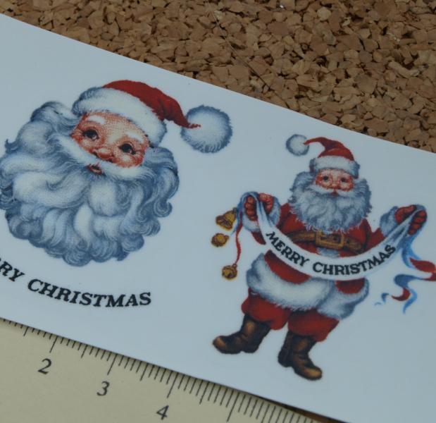 Christmas Santas Ceramic Waterslide Decals D10-21