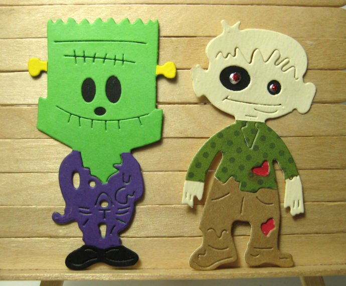 Monster Kids Cutting Die Set DIY Halloween Die Cuts
