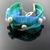 Bead loomed ocean colors mermaid braid bracelet with pearls