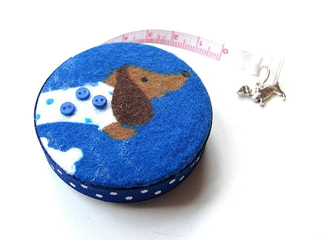 Measuring Tape Dotted Dachshunds Retractable Tape Measure
