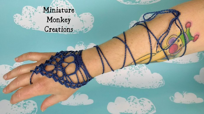 Skull Barefoot Sandals or Fingerless Gloves