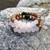 Bracelet made with natural pink wood beads and 8mm Matte Rose Quartz gemstones