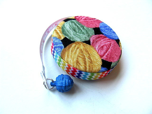 Retractable Tape Measure Rainbow Yarn Balls Measuring Tape