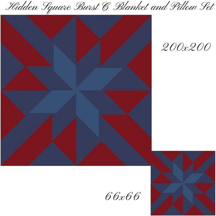 Hidden Square Pillow and Blanket Crochet Graph Pattern