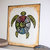 Ba-Gua Turtle stretched canvas print, gallery wrapped, 8 x 10 inches