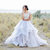 2019 New Sparkly Beading Top Wedding Dresses Organza Ruffles Bridal Dress