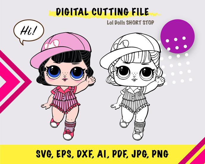 LOL Short stop  SVG, eps, dxf, ai, pdf, jpg, png