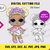 LOL doll Flower SVG, eps, dxf, ai, pdf, jpg, png