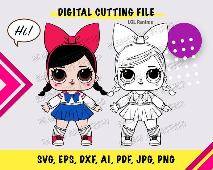 LOL Doll Fanime SVG, eps, dxf, ai, pdf, jpg, png