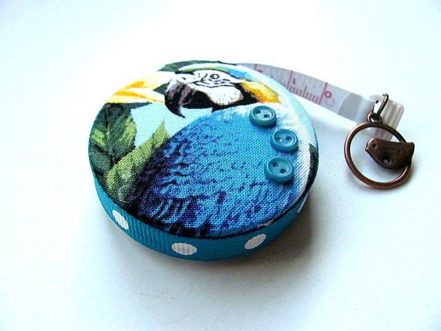 Measuring Tape Orange and Blue Parrots Retractable Tape Measure