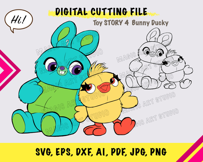 Toy Story bunny ducky SVG, eps, dxf, ai, pdf, jpg, png