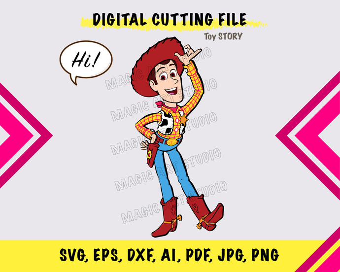 Toy Story Woody 2 SVG, eps, dxf, ai, pdf, jpg, png
