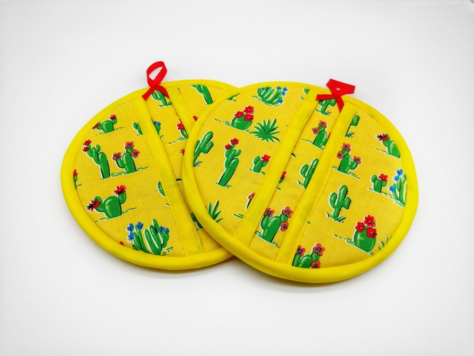 Cactus Hot Pads, Novelty Kitchen Decor, Fabric Trivets for Hot Dishes, Hot Pads
