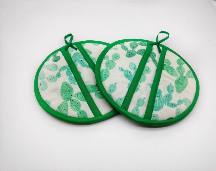 Cactus Potholders, Southwestern Decor, Cactus Oven Mitts, Cactus Hot Pads,