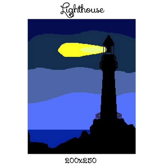 Lighthouse Blanket Crochet Graph Pattern