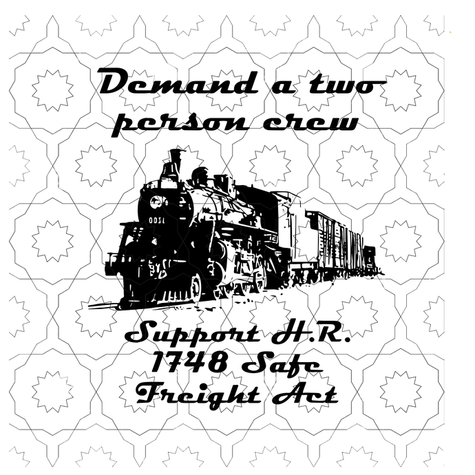 Demand a tow person crew, support H.R.1784 safe freight Act svg file for Cricut,