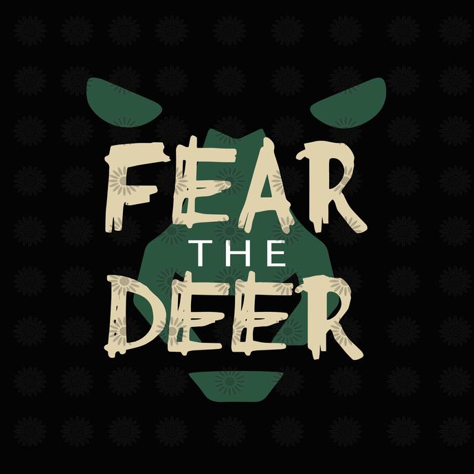 Fear the deer, Fear the deer svg, deer svg, deer clipart, baseball clipart,