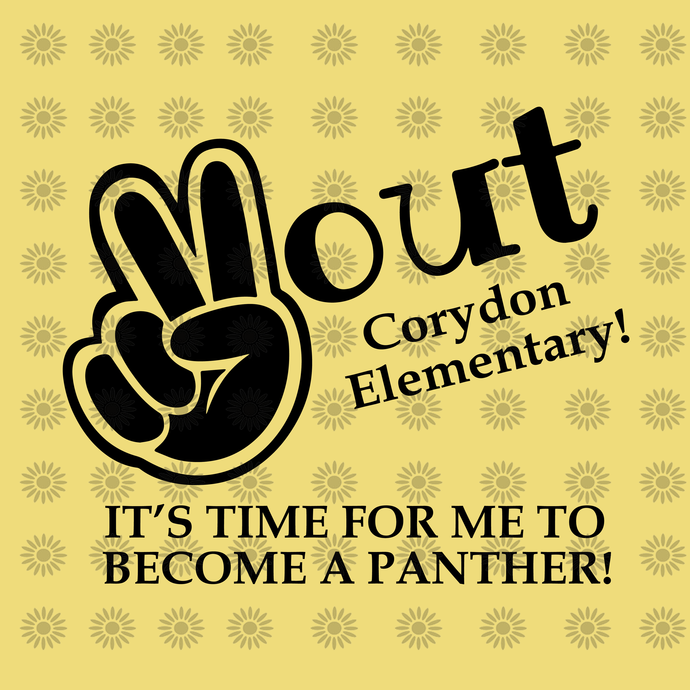 2 out corydon elementary, It's time for me to become a panther svg, png, dxf,eps