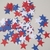 independence day 100 blue white red paper stars confetti